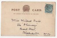 Ilfracombe 27 Jul 1903 Single Ring Postmark Devon 843b