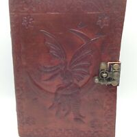 Embossed Leather Grimoire FAIRY MOON JOURNAL Book of Shadows Diary