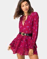 MOTEL ROCKS Kepsibelle Dress in Magenta Rose Pink *No Belt  Size Small S  (mr32)