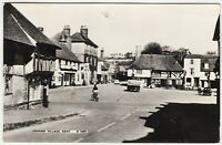 LENHAM VILLAGE - Maidstone / Ashford - Kent - 1960s era used real photo postcard