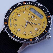 Rare 1984 Baby Arnie Seiko H556-510B Silverwave Yellow