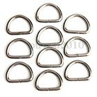 10Pcs 25mm D-Rings Buckles Clips Non Welded Sport Webbing Bags Leather Craft HQ