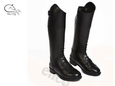 Charlotte Childs Long Boots Leather Riding Competition Dressage Black FREE P&P