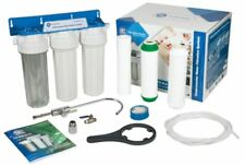 Multi-Stage Water Whole Filtration System Under-Counter with Faucet + 3x Filter