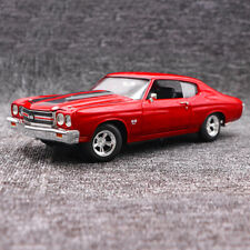 New Diecast Model 1/18 Fast & Furious 1970 Chevy Chevelle SS 454 Red Muscle Car