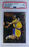 Rare! 1997-98 Skybox Z-Force Super Boss Kobe Bryant #3, Graded PSA 9, Pop 21, 4^