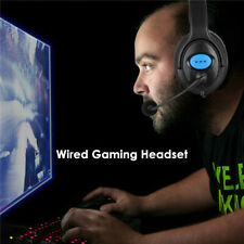 Wired Gaming Headset Earphones with Flexible Rotatable Mic for PS4 Xbox One PC