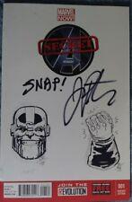 Avengers blank variant SIGN & SKETCH Jim Starlin & Joe Rubinstein. Original art