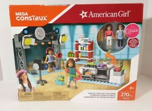 American Girl Doll GRACES COOK-OFF CHALLENGE PLAY SET Mega Construx Bloks NEW