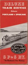 brochure ~1950s Deluxe Train Service Portland Spokane S.P. & S. RY Pasco Connect
