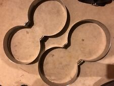 """8"""" Stainless Steel Double Scuba Tank Bands - New OMS Dive Rite"""