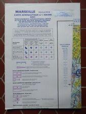 CARTE AERONAUTIQUE N°6 MARSEILLE 1984 OACI 1/500000