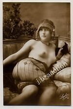 YOUNG NUDE WOMAN ON SOFA CHICE NACKTE JUNGE FRAU * Vintage 20s ART DECO Photo #1