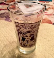 2 pc Advertising Promotional Coca Cola Flare Glasses 16 oz Turn of 20th Century