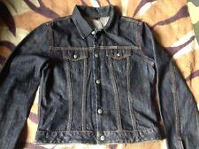 Diesel Dark Indigo Blue Giacca Di Jeans Western Camionista streetwear XL Bambino Adulto M