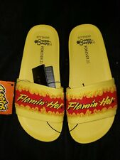 c2b7e82f315d1 FLAMIN HOT CHEETOS SLIDES SHOES SANDALS FOREVER 21 SOLD OUT WOMENS SIZE 6 M  NWT
