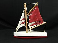Vintage Bosun Boats Model Wooden Sailboat  Canvas Sail