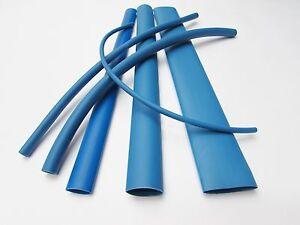 6FT Blue Heat Shrink Tube Assortment 3:1 Dual Wall Adhesive Glue Line Marine/to