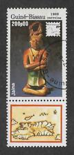 GUINEA BISSAU POSTAL ISSUE - USED COMMEMORATIVE STAMP 1989 PHILATELIC EXHIBITION