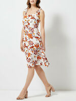 Brand New Dorothy Perkins Size 4,8,10,12,14 &18 Ivory Floral Print Cami Dress(b6
