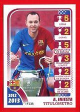 FC BARCELONA 2012-2013 Panini - Figurina-Sticker n. 173 -INIESTA TITULOMETRO-New