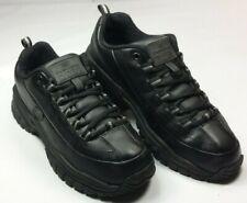 Skechers Women's Slip Resistant Work Sneakers Black Leather Nr Mint! Sz 7.5/37.5