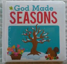 God Made Seasons (Print Braille Board Book for the Blind in Uncontracted UEB)