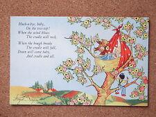 R&L Postcard: Hazel Singer, J Arthur Dixon, Nursery Rhyme No.2 Hush a Bye Baby