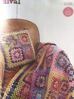 Styecraft Crochet Pattern Cushion Cover Blanket 9159