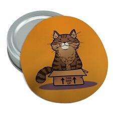Cat Sitting in Box Round Rubber Non-Slip Jar Gripper Lid Opener