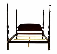 Stickley King Size Solid Mahogany Plantation Rice Poster Bed