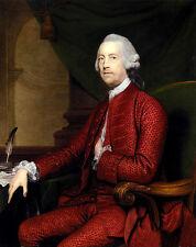 "Oil Joshua Reynolds Portrait Of John Simpson Of Bradley Hall Northumberland 36"""