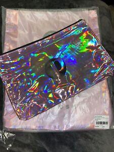 "PERFECTLY POSH METALLIC PINK POSH ZIPPER BAG-13""x 8"" Make Up Bag : Consultant"