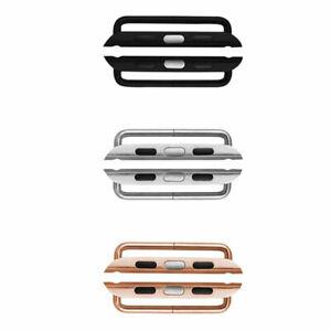 2x Adapter Anschluss Steckverbinder Stahl Für Uhrenarmband Apple Watch 4 5 44mm