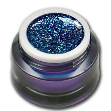 5ml Chrome Sparkle Glitter UV Gel Curacao Blau Blue Farbgel Colorgel #01541-16