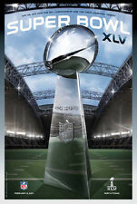 Super Bowl XLV (Dallas Cowboy Stadium 2011) Official NFL Football Event POSTER