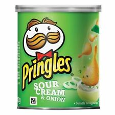 Pringles Sour Cream Flavour Crisps Savoury Snacks 40g (Box of 12)