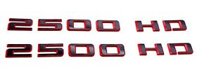 2pc Black Red Door Emblem Badge fit 2019-20 Silverado 2500HD High Country OEM