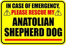 In Emergency Rescue My Anatolian Shepherd Dog Sticker