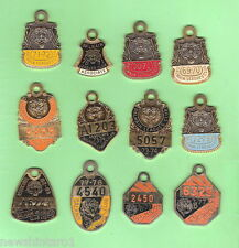 12  BALMAIN TIGERS  RUGBY LEAGUE  CLUB  MEMBER BADGES, 1969 to 1983
