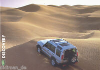 Land Rover Discovery Prospekt 2001 span 20 S. brochure Autoprospekt prospecto
