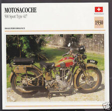 1930 Motosacoche 500 Sport Type 417 (498cc) Switzerland Motorcycle Photo Card
