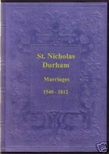 Genealogy - St. Nicholas, Durham: Parish Registers