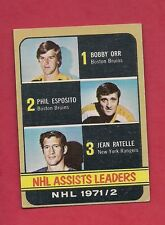 1972-73 TOPPS # 62 ORR / ESPOSITO / RATELLE LEADERS CARD