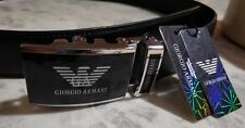 GIORGIO ARMANI belt - leather - slide buckle - adjustable size from 28 up to 36