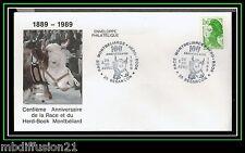 1989/FDC-FRANCE**100eme ANNIVERSAIRE DE LA RACE HERD-BOOK/MONTBELIARD