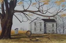 """Billy Jacobs """"The Old Farmhouse"""" Tire Swing Print 18 x 12"""