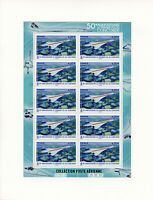 France 2019 MNH Concorde First Flight 50th Anniv 10v M/S Aviation Stamps