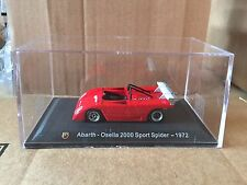 "DIE CAST "" ABARTH - OSELLA 2000 SPORT SPIDER - 1972 "" + TECA  BOX 2 SCALA 1/43"