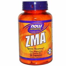 Now Foods ZMA 90 Capsules, Zinc Magnesium Vitamin B6, Sports Recovery